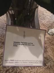 husband sends dog flowers