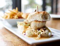 Scallops at Leroy's Kitchen + Lounge