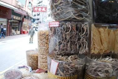 Seahorses being sold in Hong Kong