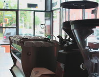 Coffee equipment at Urban Bean Lyndale