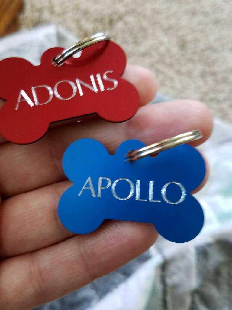 Tags for bonded dogs saved from the shelter