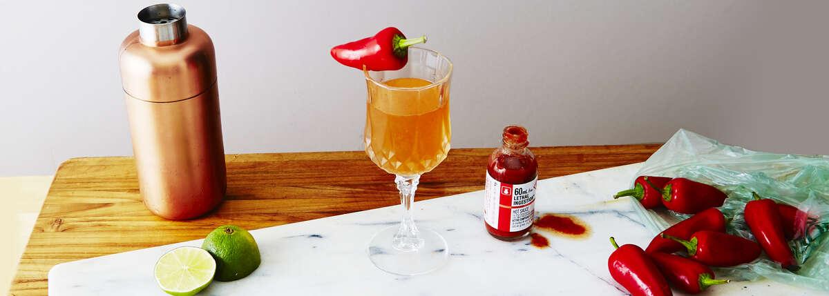Ghost Pepper Rye Sour