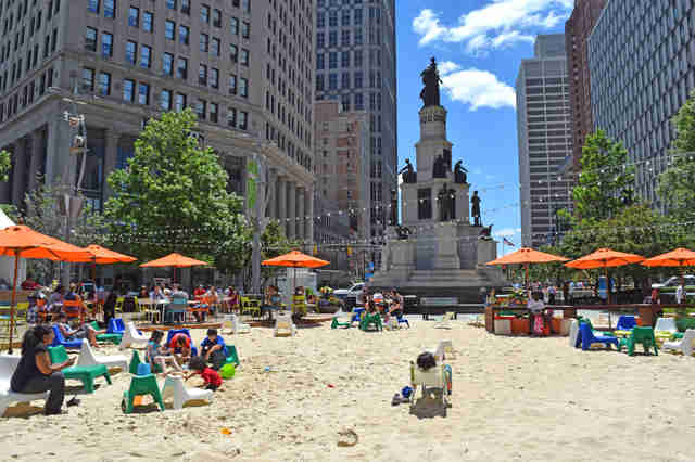 Campus Martius Beach