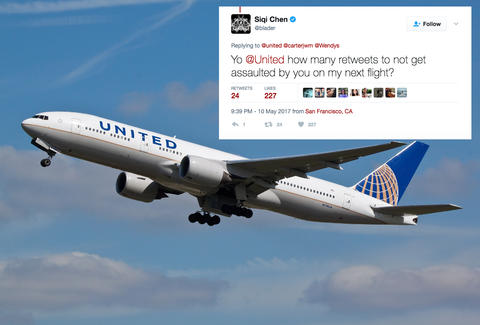 united airlines nugget tweet criticism