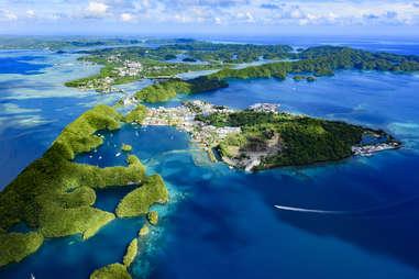Palau Malakal Island and Koror