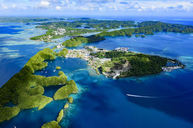 Palau Malakal Island and Koror