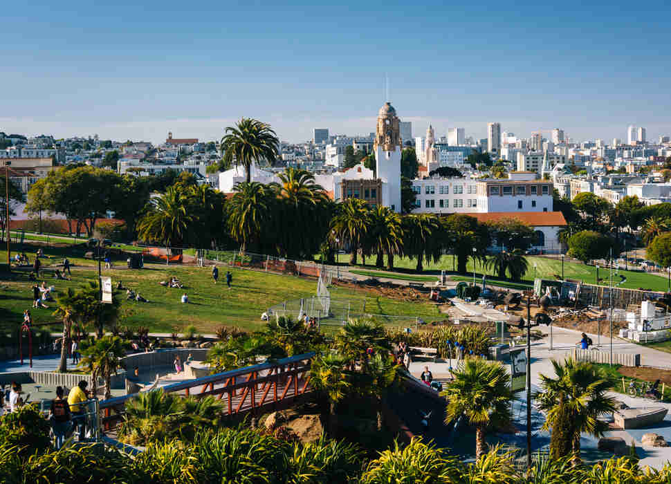 Mission Delores Park, in San Francisco, California