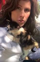 Kitten adopts woman