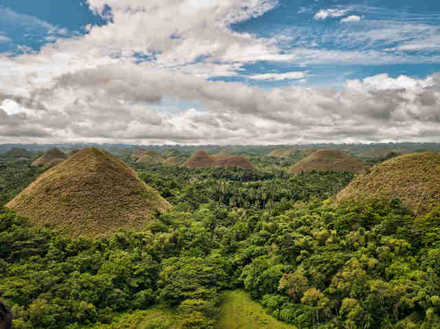 Chocolate hills in Philippines
