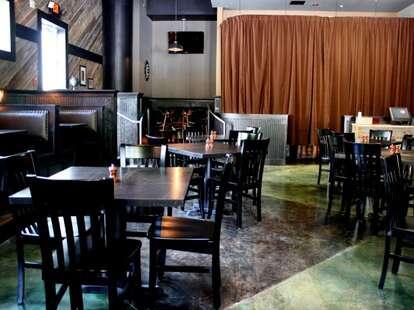 The dining area inside the Barrelhouse