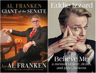 al franken and eddie izzard books