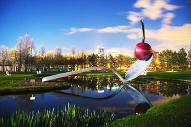 The Spoonbridge and Cherry at the Minneapolis Sculpture Garden