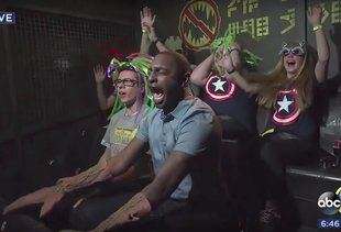Reporter Loses His Mind on New 'Guardians of the Galaxy' Ride