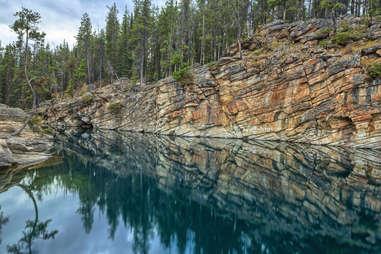 Horseshoe Lake, Jasper National Park, Alberta, Canada