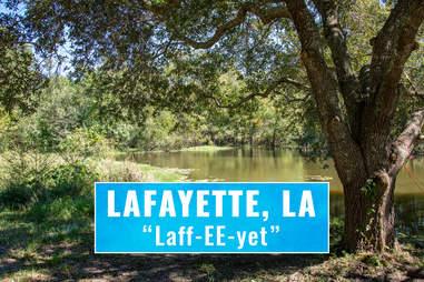 lafeyette Louisiana pronounciation