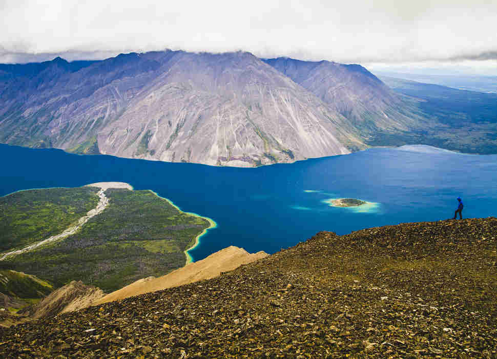 Kathleen Lake in Kluane National Park, Yukon