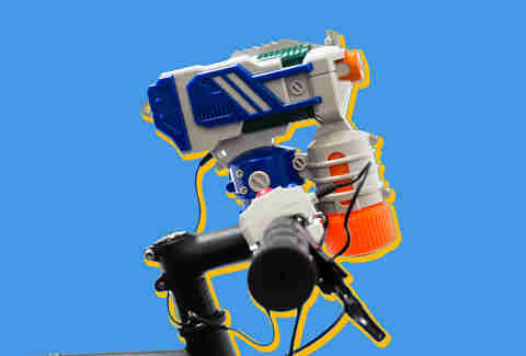 water gun bike