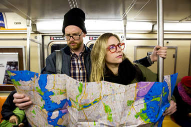 lost on the subway