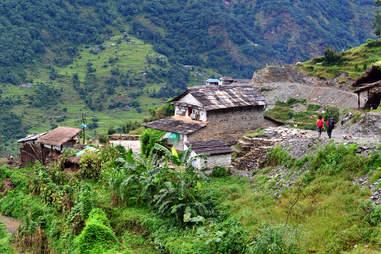 gurung village in the Annapurna Sanctuary trail