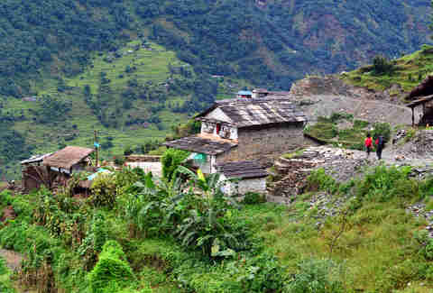 gurung village in the Annapurna Sanctuary trail