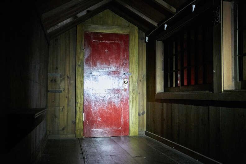 it comes at night red door