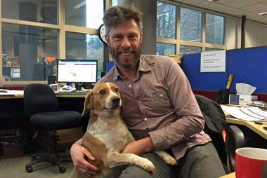 Rky Goddard with his beagle Cleo