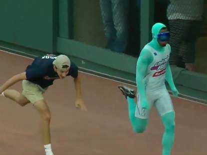 Baseball Fan Falls in Race
