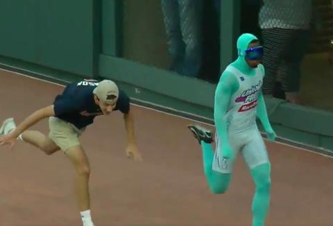 Baseball Fan Falls in Race