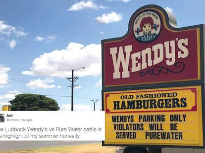 wendy's road sign war