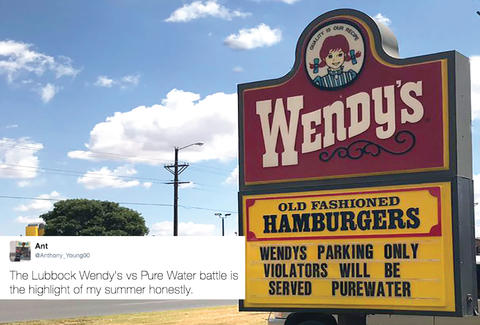 wendy's road sign war