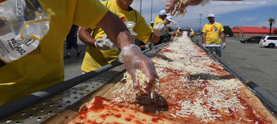 The World's Longest Pizza Turned a Race Track Into a Giant Pizza Party