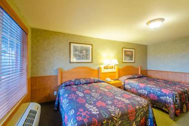 Old plain hotel room