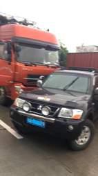 SUV blocking dog meat truck