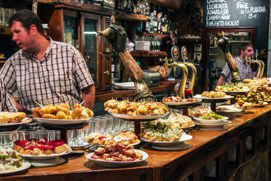 """Bar serving """"Pintxos,"""" San Sebastian"""