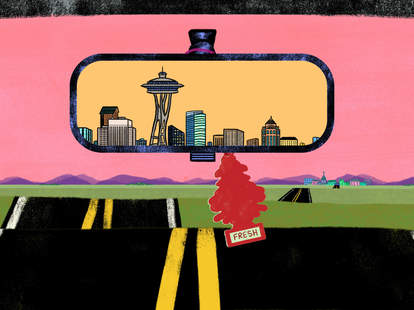Seattle in the rearview mirror