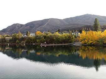 Lake Chelan in fall