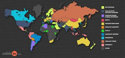 most popular video game in every country