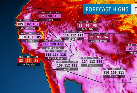 It's Hot as Hell in the Southwest and the Dangerous Heat Wave Isn't Going to Let Up