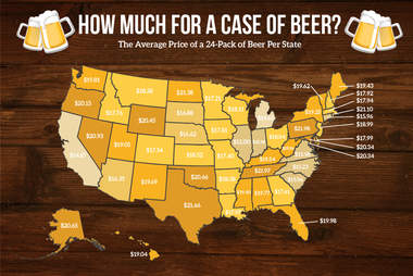 average price of beer map