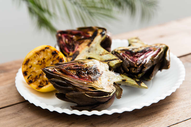 Grilled artichokes cookout sides