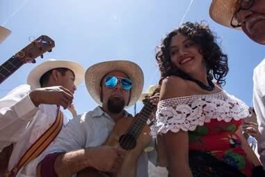 People in Friendship Park, Playas de Tijuana, Mexico