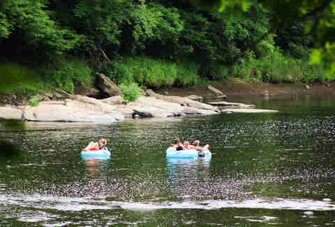 floating on the river in Pennsylvania