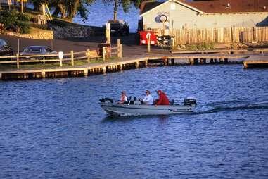 Boating on Minocqua Lake