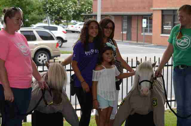Mini therapy horses sworn in as deputies