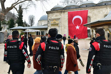 Police officers in Istanbul, Turkey
