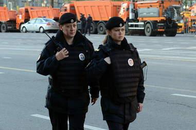 Moscow policewomen