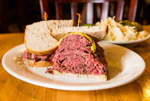 pastrami sandwich from Sarge's Deli Murray Hill