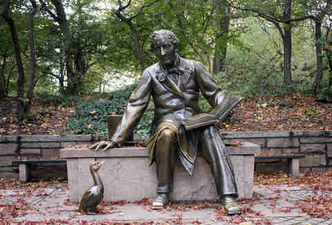 hans christian anderson statue