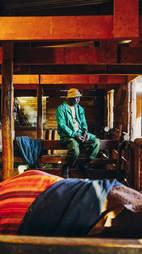 Elephant caretaker in Kenya