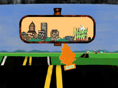 Portland in the rearview mirror